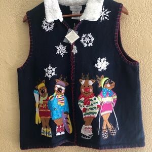 White Stag Womens Sweater Vest size XL